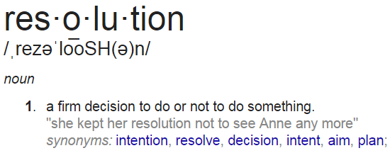 Definition of Resolution